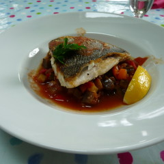 Pan fried Sea Bream with Ratatouilles