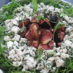 Marinated Fig and Mozzarella Salad